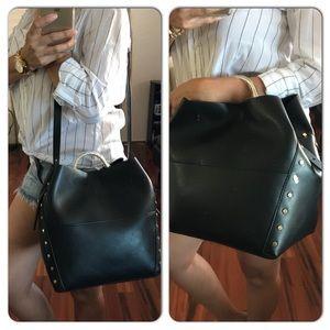 NEW ZARA Gold Studded Bag